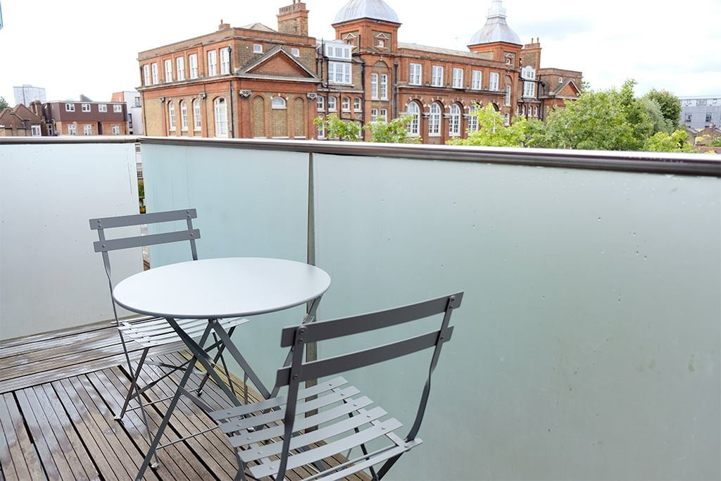 Balcony of London appartment